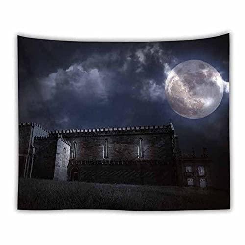 Wave Night Sky Starry Moon Tapisserie Wandbehang nach Hause Hippie Wandteppich Decke Tuch psychedelischer Wandteppich A4 180x230cm
