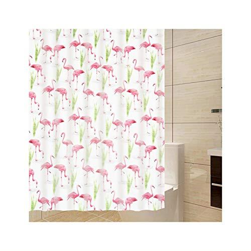 cortinas baño originales flamencos
