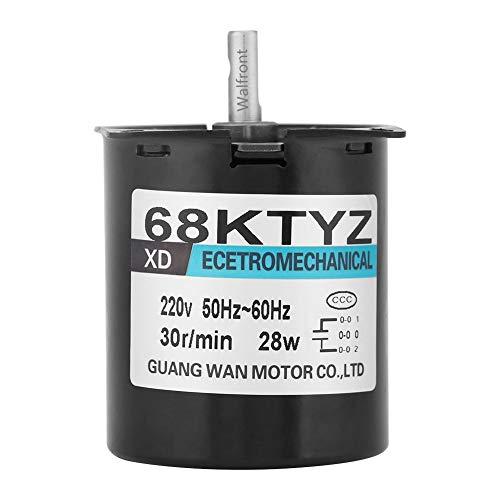 Motor Eléctrico Sincrónico Motor de Baja Velocidad Motor de Imán Permanente CW/CCW 2.5/20/30/110 RPM AC 220V 28W(30 RMP)