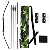 SinoArt Survival Bow Compact Takedown Bow with 4 Takedown Arrows (35Lbs)
