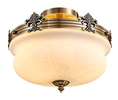 Home mall- Style américain cuivre lampe de plafond salon chambre cuisine lumière 40 * 33cm E27 * 5