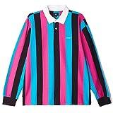 OBEY Side Line - Polo rosa y azul para hombre 22420MC000073 multicolor S