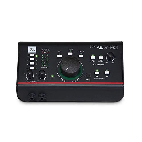 JBL Professional Active-1 Präzisions-Monitorsteuerung, Studio-Talkback mit USB Audio I/O