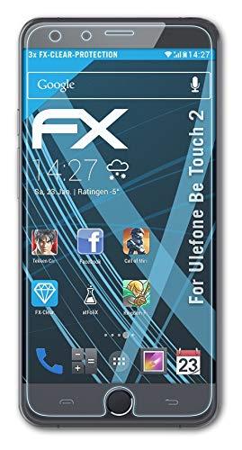 atFolix Schutzfolie kompatibel mit Ulefone Be Touch 2 Folie, ultraklare FX Bildschirmschutzfolie (3X)