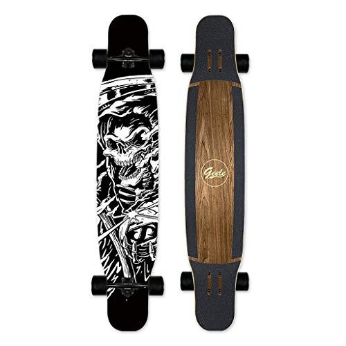 SHATONG Teens Adult Maple Surfen Longboard jongens en meisjes Premium deck beginners Professional Standard Complete skateboard reis weg dubbele ketting lange concave skateboard studenten dansen plank