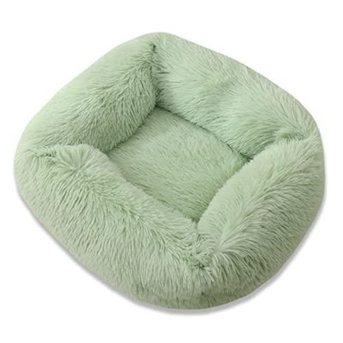 Sofá cama de perro largo de felpa cuadrada perrera invierno cálido cachorro Mat nido de gato suave casa antideslizante cesta cojín para perros suministros para mascotas (estilo 9,55* 45* 20)