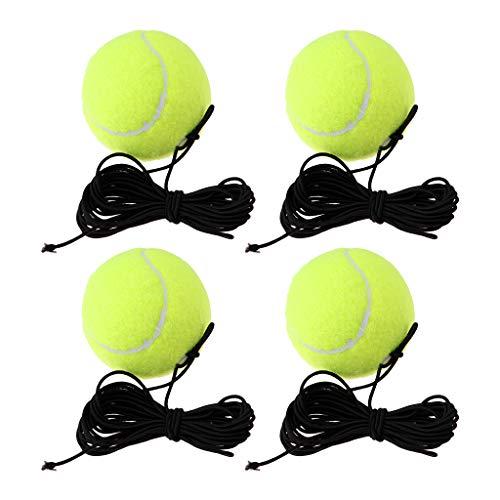 HomeDecTime 4 stuks rubberen tennisballen met string indoor training bal Aids