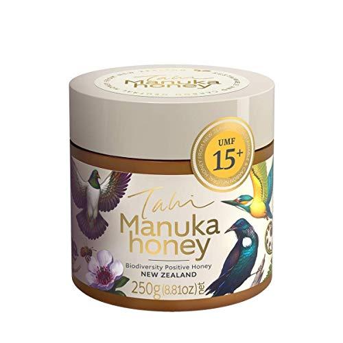Tahi - Manuka Honig - UMF15+ MGO514+ - Original und zertifiziert aus Neuseeland - 250g - Öko Honig aus Familienbetrieb - GOLD GEWINNER LONDON HONEY AWARDS -