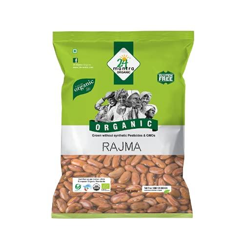 24 Mantra Organic Chitkabra Rajma , 500g