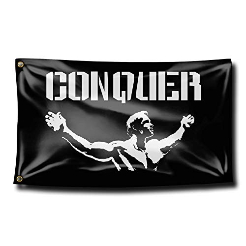 hlhhing Conquer Pose Gym Lifting Garden Flag Yard Sign Outdoor Decoration Banners (3 X 5 Ft)