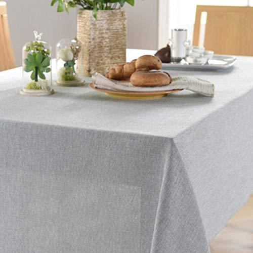 EDCV Tafelkleden kleine frisse en eenvoudige stof Effen kleur tafelkleed katoen en linnen salontafel decoratie rechthoekig, BLAUW-GRIJS