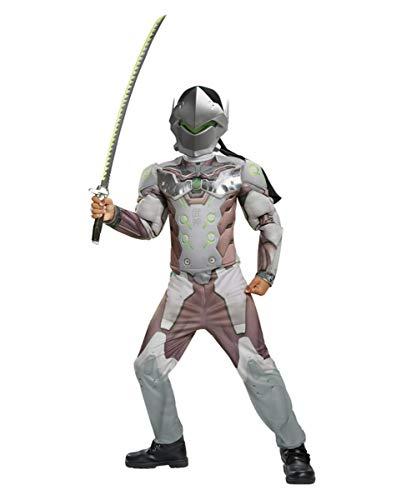 Horror-Shop Overwatch Genji Kinder Muskel-Kostüm für Comic Con & Fasching M