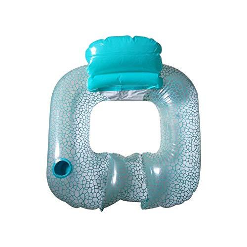 Colchoneta hinchable para piscina, tumbona de agua, cómoda, flotador
