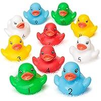 Contar patos de goma Tiempo Diversión y Aprendizaje en el Baño, Números de Aprendizaje Gran Remar o Nadar Juguete de Piscina.