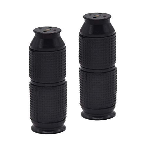 Sahnespender Düsen 2 Stück Sahnebereiter Aluminiumlegierung Klein und tragbar Ledertasche Frostschutzhand Cream Whipper Dispenser (Black)