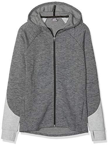 PUMA PUMA Mädchen Evostripe FZ Sweatshirt, Medium Gray Heather, 176