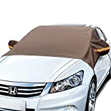 AstroAI Windshield Snow Cover, Car Windshield Cover for Ice and Snow Wiper Mirror Protector Windproof Cover for Snow, Ice and Frost Windscreen Snow Cover for Cars and Compact SUVs