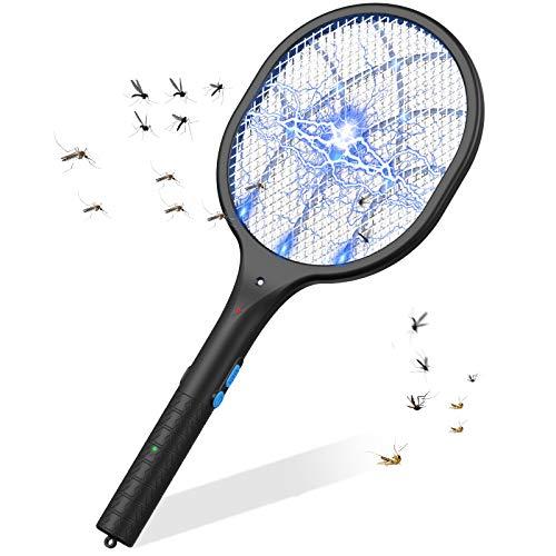 Raqueta Matamoscas Electrico Raqueta de Mosquitos Mata Mosquitos Plagas Insectos Asesino Repelente...
