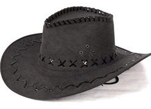 Fiesta Palace - Chapeau Cowboy Imitation Cuir Noir pour Enfant
