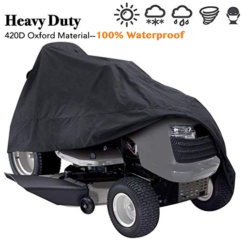 Indeedbuy Waterproof Tractor Cover, Heavy Duty, Durable, UV and Water Resistant Cover for Your Ride-On Garden Tractor 72'' x 46'' x 54''