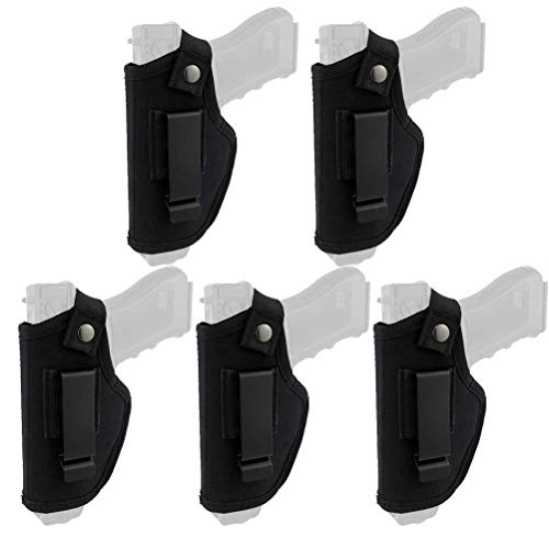 Macabolo Taktische Pistole Holster, 5 Pack verdeckt tragen Holsters Gürtel Metall Clip Holster Airsoft Gun Tasche für alle Größen Handfeuerwaffen