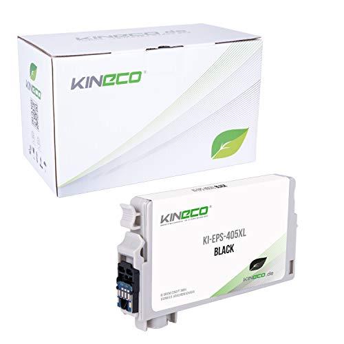 Kineco Tintenpatrone mit CHIP kompatibel für für Epson Workforce WF-7840 WF-7835 WF-7830 Pro WF-4830 WF-4825 WF-4820 WF-3825 WF-3820-405XL Schwarz