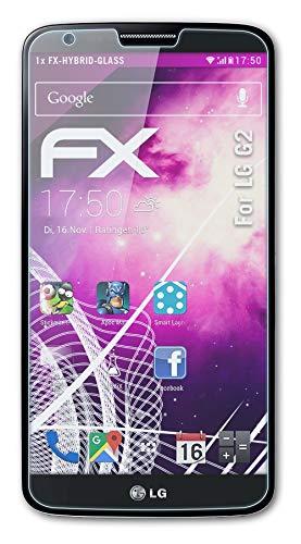 atFoliX Lámina Protectora de plástico Cristal Compatible con LG G2 Película Vidrio,...