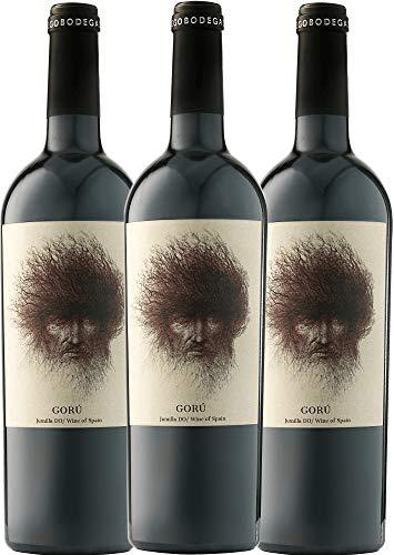 3er Paket - Gorú Jumilla DO 2018 - Ego Bodegas | trockener Rotwein | spanischer Wein aus Murica | 3 x 0,75 Liter