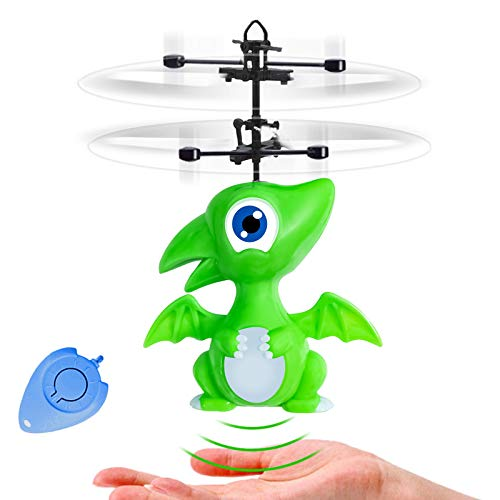 Flying Toys Rc Dinosaur Toys Gifts for Kids Age 6 7 8 9 -14 Year Old, Rc Infrared Induction Flying Ball Toys Hand RC for Kids Boys Girls Indoor Play or Dinosaur Party Supplies & Favors