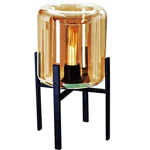 Luminária de Mesa em Vidro e Metal, Mart, Preto/ Champanhe, Mart Collection