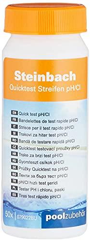 Steinbach Wassertester Quicktest Streifen, für pH-Wert und freies Chlor, 50 Teststreifen, 079020