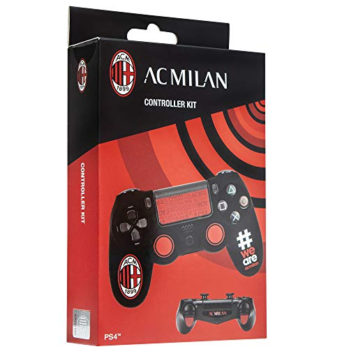 Cidiverte Controller Kit AC Milan 2.0 Gaming controller case - Gaming-Controller-Zubehör (Gaming controller case, PlayStation 4, Schwarz, Rot, Silikon, Sony, Box)
