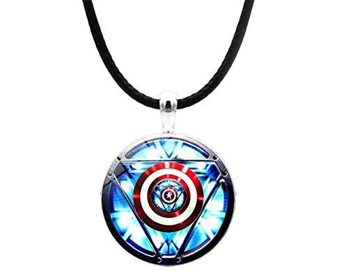The Avengers - Collana con Ciondolo a Forma di Cuore per Uomo, Motivo: Iron Man, Tony Stark, con reattore ad Arco Creativo di Una Generazione