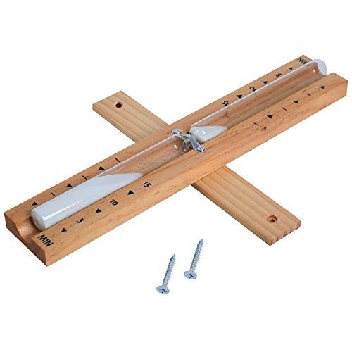 Sanduhr Sauna Zubehör aus Holz 15 Minuten 1DOT2 hitzebeständig Wandmontage umweltfreundlich...