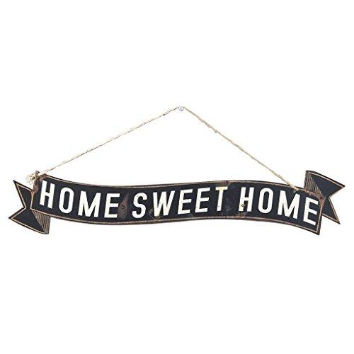SPICE シャビーティンプレート HOME SWEET HOME ブラック DRDR6110