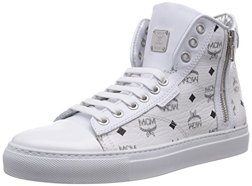 Michalsky III High x MCM Classic Damen Hohe Sneakers, Weiß (white monogram 094), 39 EU