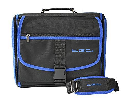 TGC ® Housse de Transport pour Console Microsoft Xbox One Deluxe par The (Noir avec Bordure Bleu rêve)