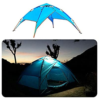 Pacific Stream Automatic Hydraulic Camping Tent for 2-3 Person Instant Pop Up Tent Portable Sun Shelter with Carrying Bag Lightweigt Tent (Orange - Blue - Green - Rainbow Tent)
