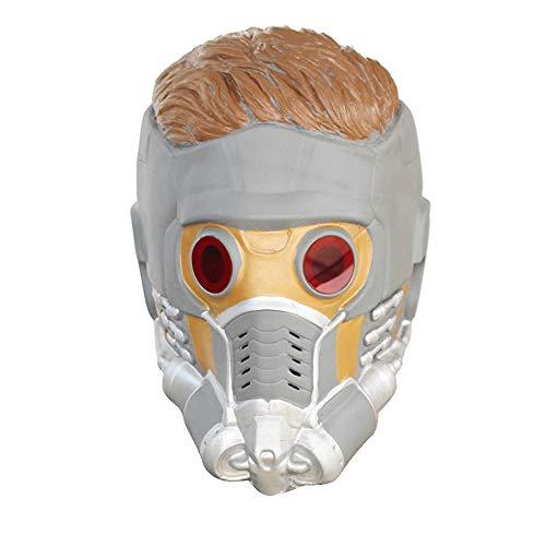 KTops Star-Lord Maske Halloween Star-Lord Maske Helm Maske Latex Kunstperücke Kopfschmuck Karneval Maskerade Verrücktes Rollenspiel Make-up - Universalgröße