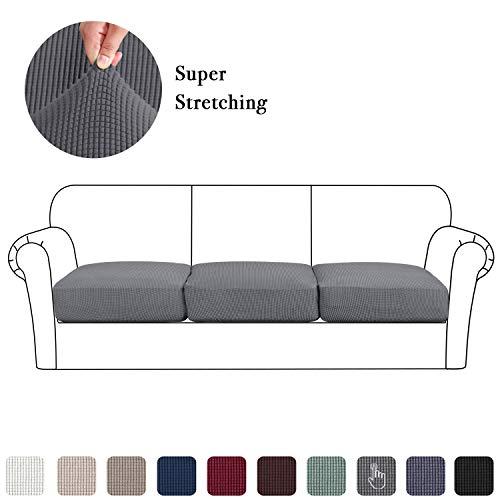High Stretch Seat Cushion Cover Sofa Cushion Furniture Protector fot Sofa Seat Sofa Slipcover Sofa Cover Soft Flexibility with Elastic Bottom (3...