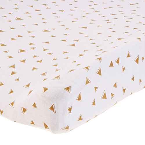 American Baby Company 2 Pack Printed 100% Natural Cotton Jersey Knit Fitted Contoured Changing Table Pad Cover, Taupe Feathers and Triangles, Soft Breathable, Boys and Girls