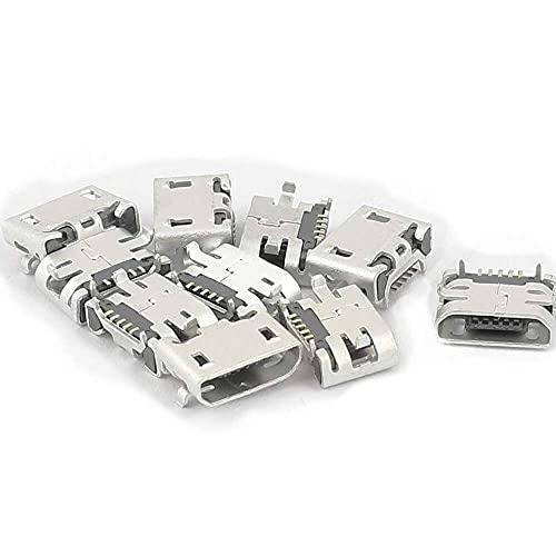Yuyanshop Uxcell - Adaptador de conector hembra tipo B micro USB de 5 pines para teléfono