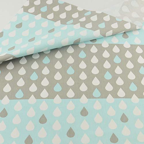 YZMY Wassertropfen Baumwollstoff Patchwork Nähen Bastelstoffe lting Bettwäsche Dekoration Gewebe Home Textile-45x45