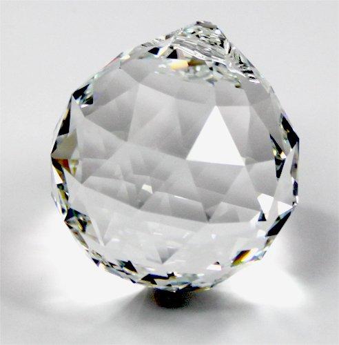 Set: Kristall Glas Kugel 50mm SPECTRA® CRYSTAL von Swarovski - Feng Shui Pendel mit