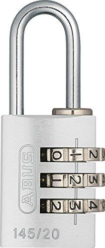 ABUS Aluminium-Zahlenschloss 145/20, silber, 46611