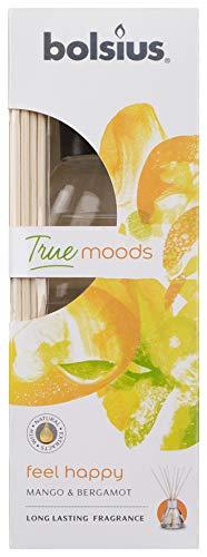 Bolsius Duft-Diffusor, Feel Happy Mango Orange Pfirsich Duft, 45 ml, Öl, Einheitsgröße