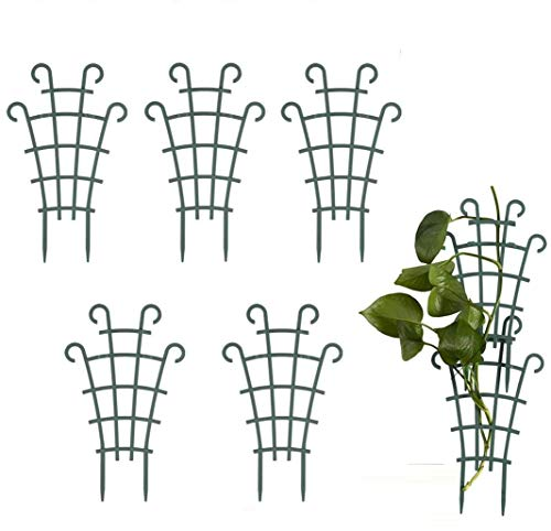meacom 5 Stück Garten Pflanzenstütze Rankhilfe, Blumenstütze Gitterspalier Topfpflanzen Superimposed Rankgitter Pflanzkübel Pflanzenkäfige,Pflanzgitter