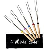 MalloMe Marshmallow Roasting Smores Sticks - Camping Accessories for Campfire Fire Pit Cooking Set...