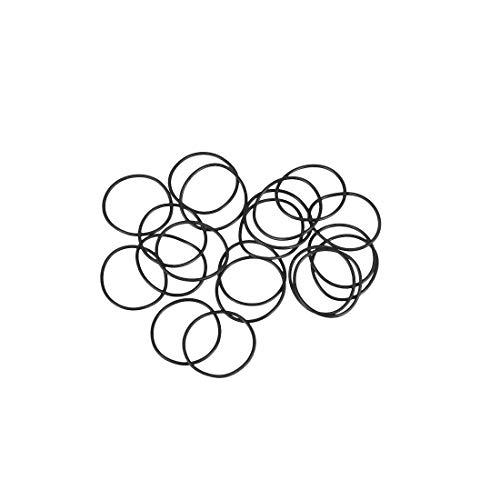 sourcing map 20pcs O-Ringe Nitrilkautschuk Gummi 18mm x 20mm x 1mm Dichtungsringe Dichtung DE de