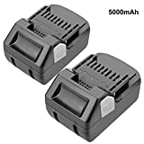 ARyee 18V 5000mAh Replacement Battery for Hitachi BSL18 BSL1830 BSL1840 BSL1815X BSL1830C DS18DSAL Rechargeable Power Tool Battery (2)